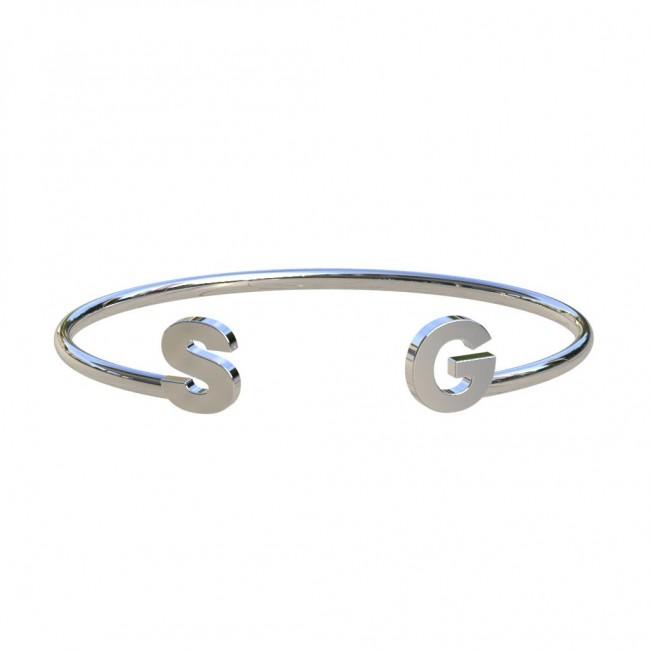 Favoriete initialen armband goudkleur QN32