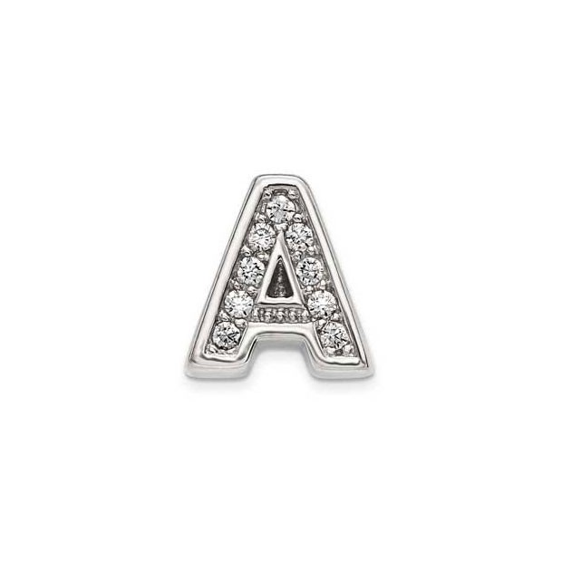 Initials pendant with stones aloadofball Image collections